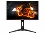 AOC C24G1A 24 Curved Frameless Gaming Monitor, FHD 1920x1080, 1500R, VA, 1ms MPRT, 165Hz (144Hz Supported), FreeSync Premium