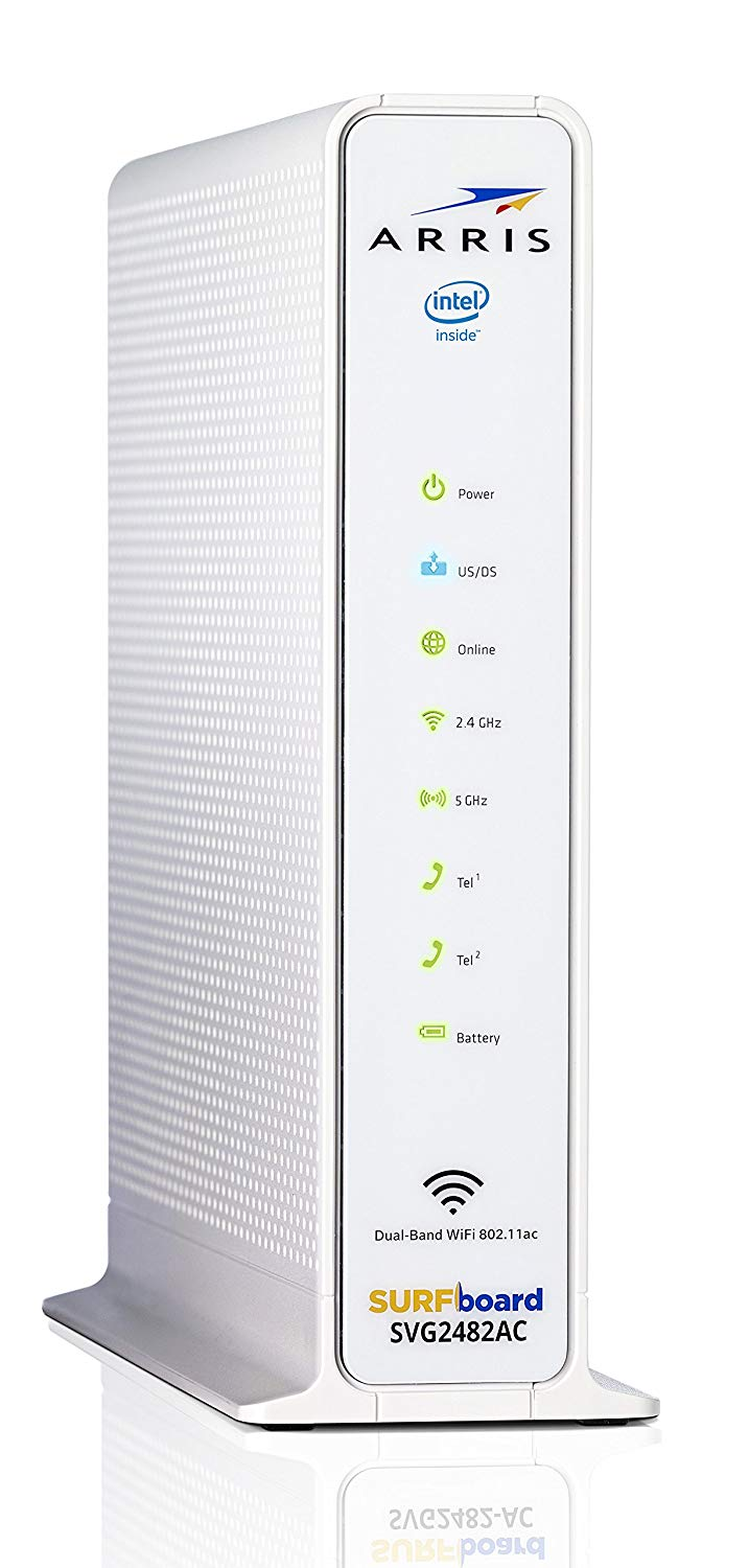 ARRIS Surfboard (24x8 Docsis 3 0 Cable Modem Plus AC1750 Dual Band Wi-Fi  Router and Xfinity Telephone, for Comcast Xfinity Only