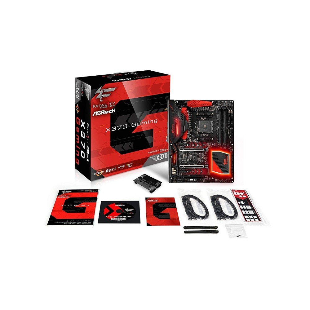 ASRock Fatal1ty X370 Professional Gaming AM4 AMD X370 SATA 6Gb/s USB 3 1  USB 3 0 ATX AMD Motherboard