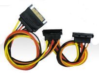 "Athena Power ESATA16 16"" Linear SATA II Power Splitter & Extend Cable"