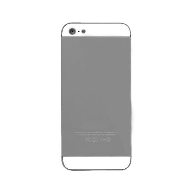 huge discount 7ce73 0995e iPhone 5s Back Housing Cover Panel - Silver