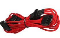 BattleBorn Molex to 5 x SATA Cable - Braided Red