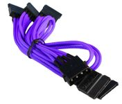 BattleBorn Molex to 5 x SATA Purple Braided Adapter Cable