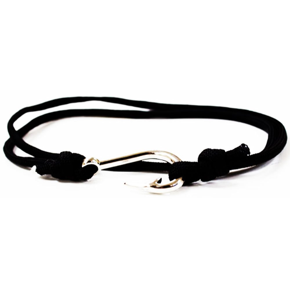 Add Review For Black Paracord Fish Hook Bracelet Silver