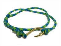 Blue & Green Pattern Hook Bracelet