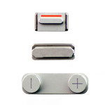 Replacement Button Set For Iphone 5 Silver