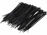 C2G 43037 6in Cable Ties - Black - 100pk - Black - 100 Pack