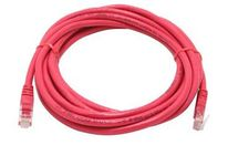 BattleBorn 14.5 foot Red Cat5E 350MHz Patch Cable with Molded Boots