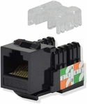 BattleBorn Cat5 / Cat5e Tool Less Keystone Jack (Black)
