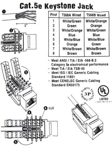 ds cat5e tool less keystone jack white sale 2 89 rh outletpc com RJ 45 Wiring-Diagram Cat5 B Wiring-Diagram