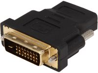Coboc EA-AD-DVI2HDMI-MF Black Color Dual Link DVI-D (24+1) Male to HDMI Female Digital Video Adapter, Gold Plated