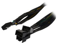 Coboc TX4SPL3-6 6in Sleeved 1 to Three(3) x 4-pin TX4 PWM Multi-Fan Power Splitter Cable(Net Jacket) Female to Male