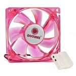 Coolmax CMF-825-RD UV Reactive 4-Red LED Case Fan w/4-Pin Connector (Red) 80mm