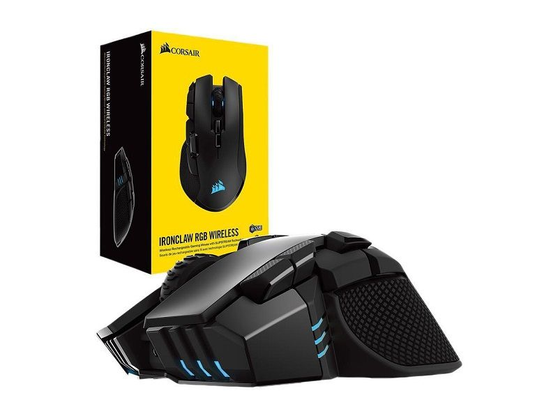 CORSAIR IRONCLAW Wireless RGB - FPS and MOBA Gaming Mouse - 18,000 DPI  Optical Sensor