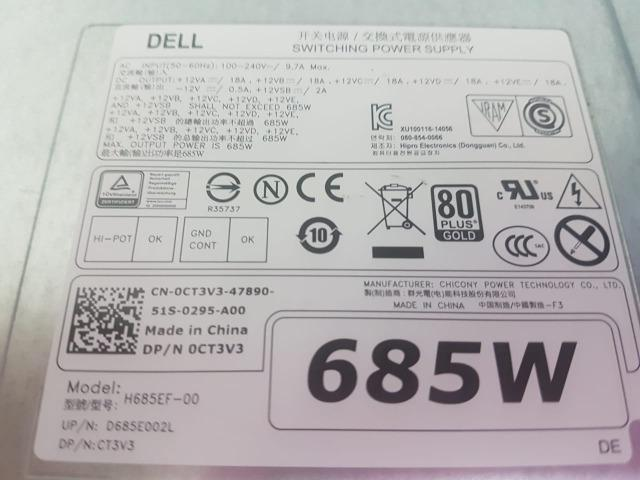 Renewed W4DTF K8CDY CYP9P KTMT8 VDY4N DELL 685W Power Supply for Precision T7810 Workstation PN