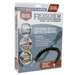 Deluxe Edition Flexible Ratchet Screwdriver Extension Kit w/35 Assorted Bits & 14 Sockets (Black/Red)