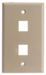 DS 2 Port Keystone Wall Plate Beige