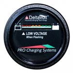 Dual Pro BFGWOV12V 12V Battery Fuel Gauge Wireless on Board Vehicle - Round