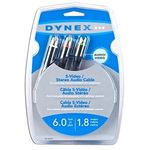 Dynex DX-AV051 6 Foot S-Video Cable with RCA Audio
