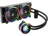 Enermax Liqfusion ELC-LF240-RGB RGB 240mm AIO Liquid CPU Cooler with Patented Flow Indicator Design, Intel AMD (ELC-LF240-RGB)