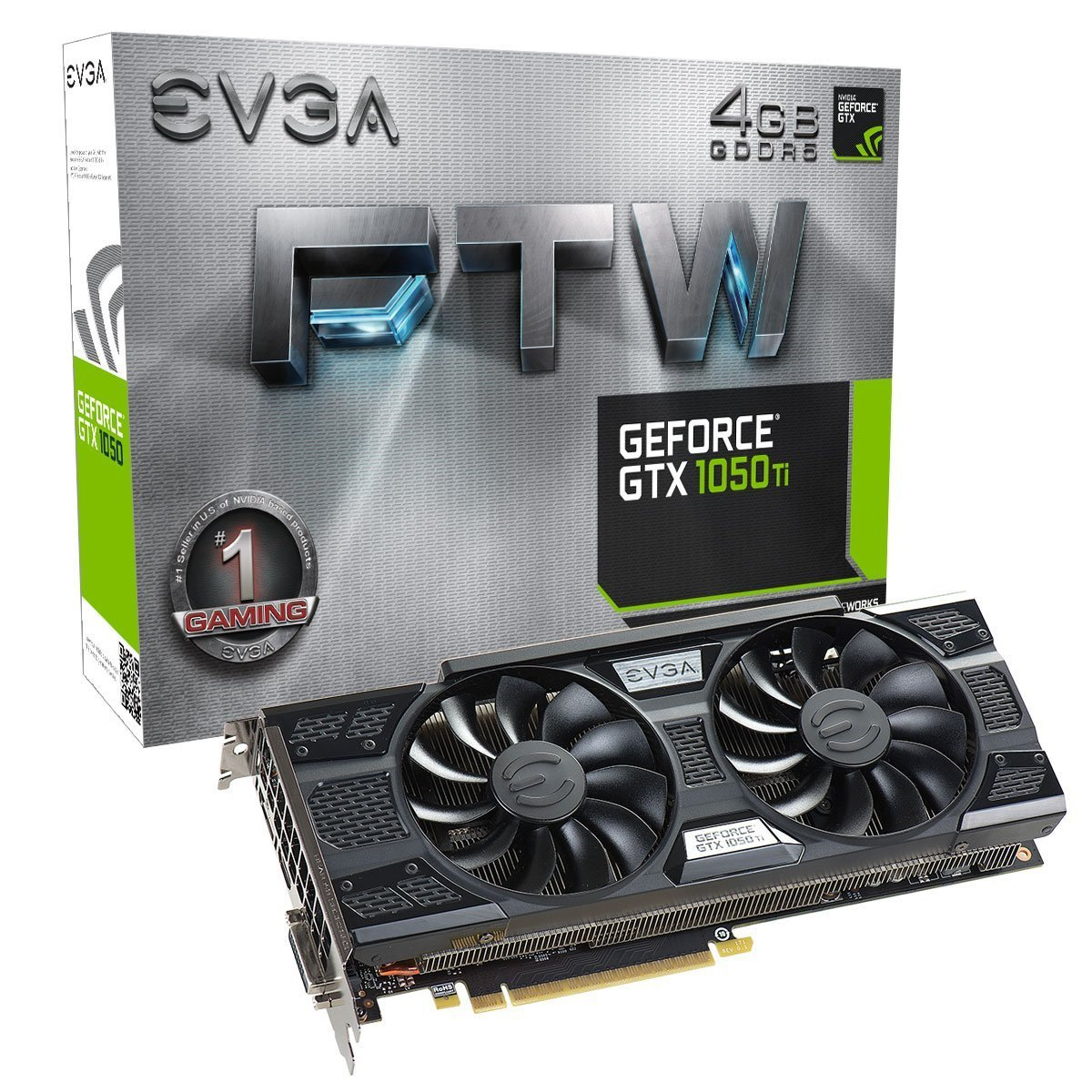 EVGA 04G-P4-6258-KR GeForce GTX 1050 Ti Graphics Card