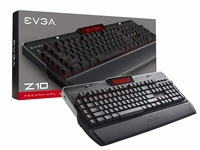 EVGA Z10 Gaming Keyboard, Red Backlit LED, Mechanical Blue Switches, Onboard LCD Display, Gaming Keys, 802-ZT-E101-KR