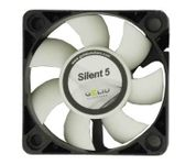 Gelid FN-SX05-40 Silent5 3-Pin 50mm Case Fan (Black/White)