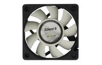 Gelid FN-SX06-38 Silent6 3-Pin 60mm Case Fan (Black/White)