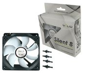 GeLid Silent8 FN-SX08-16 80mm 18dBa Shock Absorbing Silent Case Fan