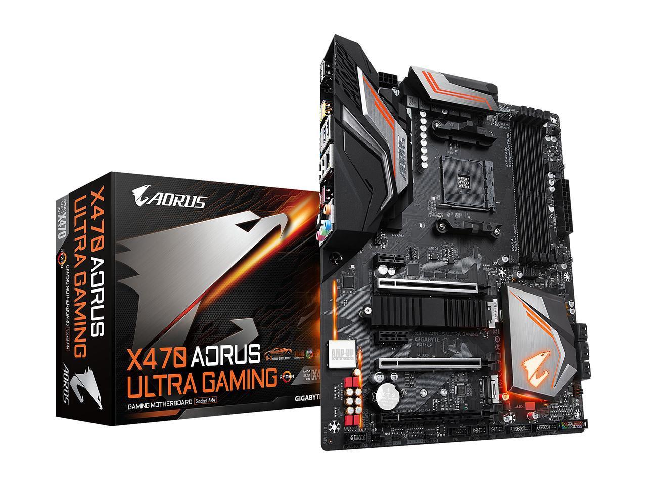 Gigabyte X470 AORUS Ultra Gaming AM4 AMD X470 SATA 6Gb/s USB 3 1 HDMI ATX  AMD Motherboard