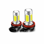 SwitchCarParts H11 COB White LED Bulb Pair