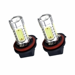 SwitchCarParts H9 COB White LED Bulb Pair