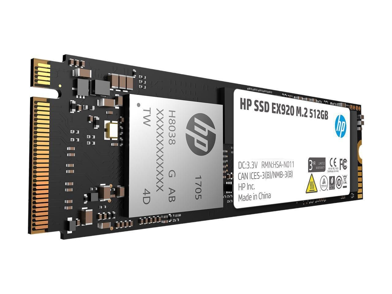 Hp Ex920 M2 512gb Pcie 3 0 X4 Nvme 3d Tlc Nand Internal Solid State Drive  (ssd 2yy46aa#abc