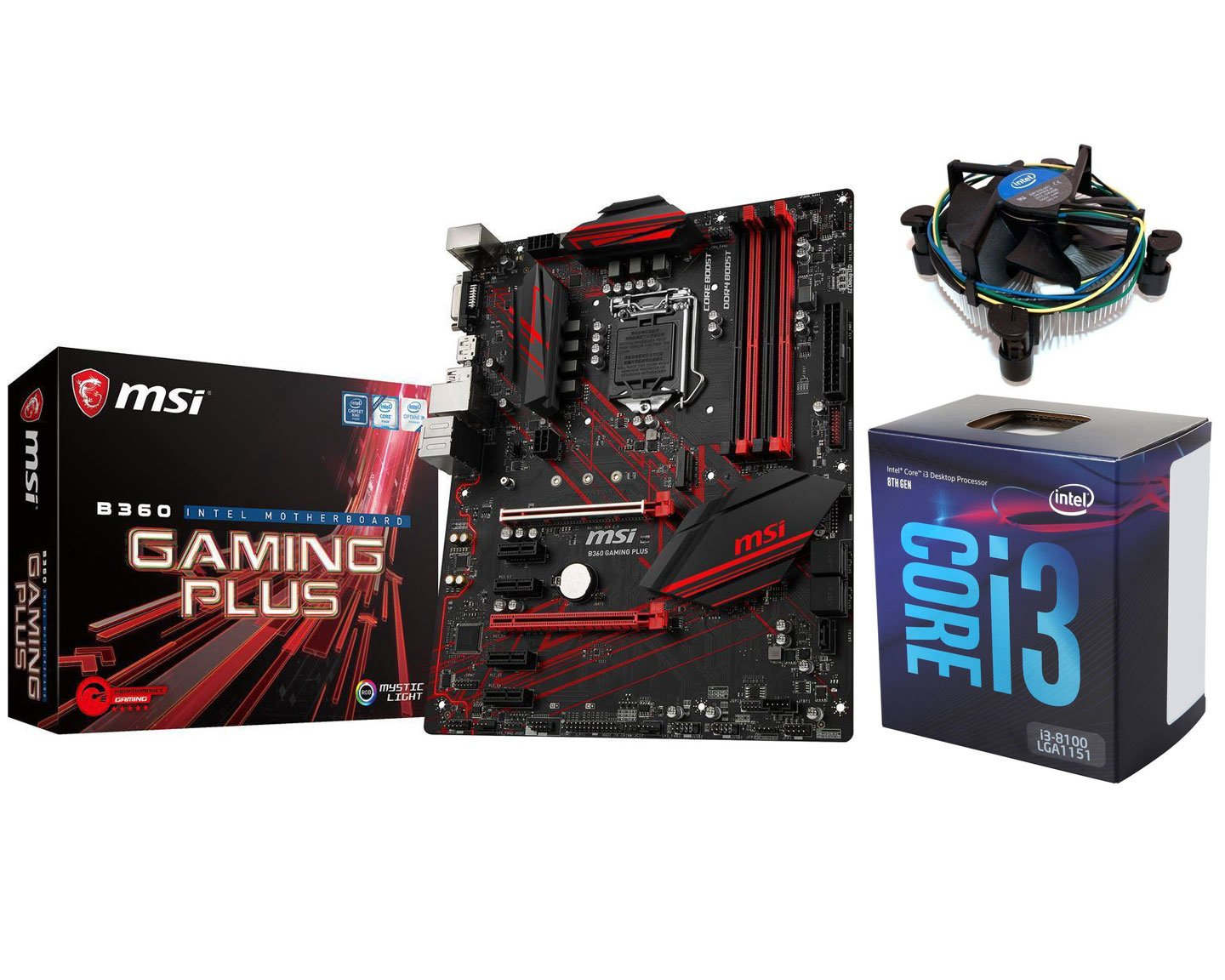 Intel I3 8100 Msi B360 Gaming Cpu Combo 24889 Motherboard Add Review For