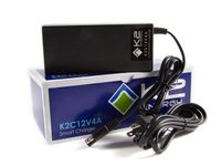 K2 Energy K2C12V4A 12V 4Ah LiFePO4 Charger with SAE/Faston 250 Connectors