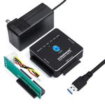 "Kingwin USI-2535CLU3 EZ-Clone 2.5""/3.5"" SuperSpeed USB 3.0 SATA/SSD & IDE Adapter w/One Touch Clone Button - Refurbished"