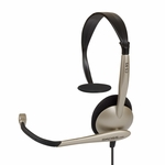 Koss Headset CS95 Wired Over the Head Monaural Supra Aural with Noise Cancelling Microphone 193277
