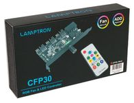 Lamptron CFP30 Fan and RGB LED Controller for PCI Slot - Black