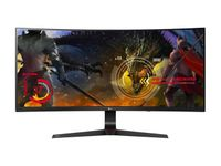 LG 34UC89G 34 Black Bezel-less Full HD 21:9 IPS Curved LED G-Sync Gaming Monitor, 2560x1080, 144Hz Refresh Rate, 5ms Response Time, On