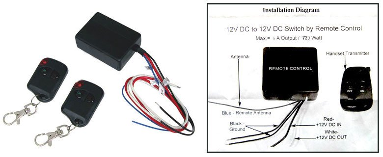 Add Review For Logisys Rm01 Wireless Power Control Relay Kit 12v: Remote Control 12v Dc Switch Wiring Diagram At Eklablog.co