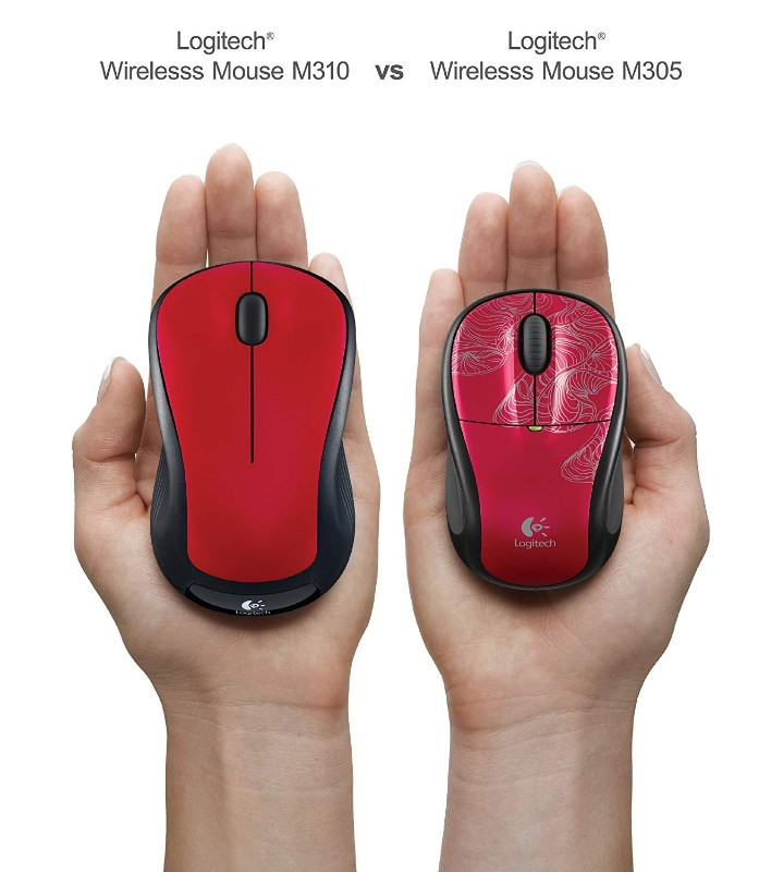Logitech 910-002486 Wireless Mouse M310 Hands Flame Red