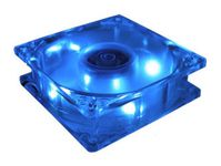 Masscool BLD-08025S1M 3/4-Pin 80mm Case Fan with Blue LED Lights