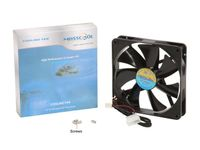 Masscool FD14025B1L3/4 140mm 57CFM DC Case Fan with 3+4pin Connectors