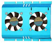 "Masscool FHD-4B02S4 3.5"" Hard Drive Cooler with 2x 50mm Fans (Blue)"