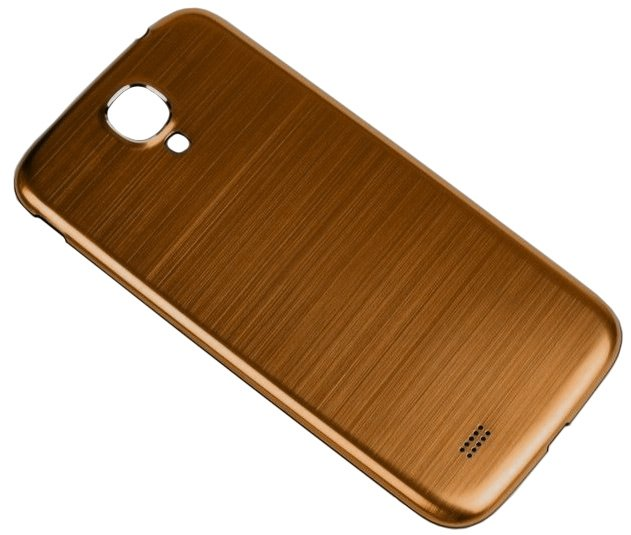 best service b8685 b058a Metallic Brushed Back Cover for Samsung Galaxy S4 i9500 Gold w/ White Border