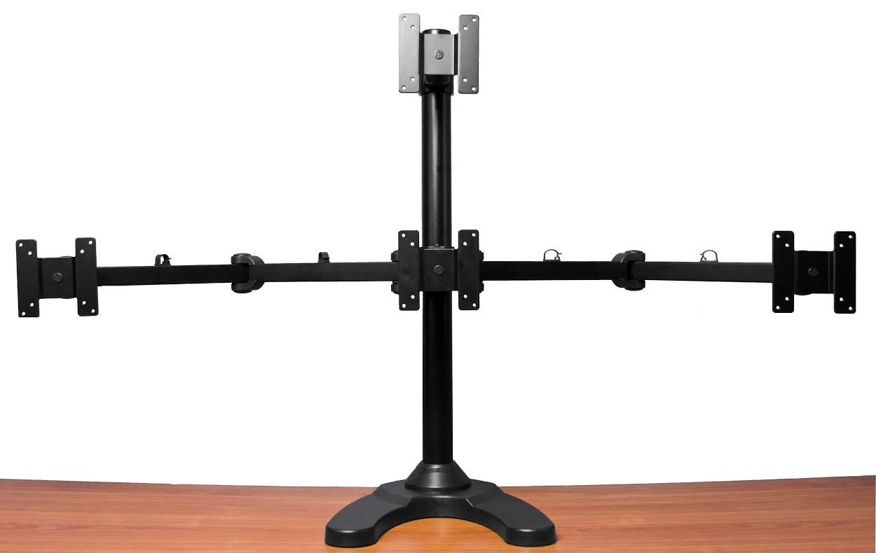 Monmount Quad Lcd Monitor Desk Stand 3 1 68 99