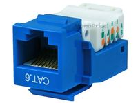 MonoPrice 1040 Toolless Cat6 Blue Keystone Jack