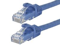 MonoPrice 11272 FLEXboot Series Cat6 24AWG UTP Ethernet Network Patch Cable, 1 Foot Blue