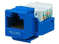 MonoPrice 313 Blue Cat5e Toolless RJ45 Keystone Jack