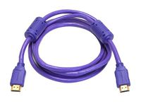 Monoprice 4025 6 Foot 28AWG Purple High Speed HDMI Cable w/Ferrite Cores